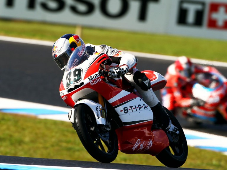 Salom in action at Phillip Island