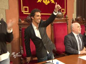 Toni Elías receives World Champion's welcome in hometown Manresa