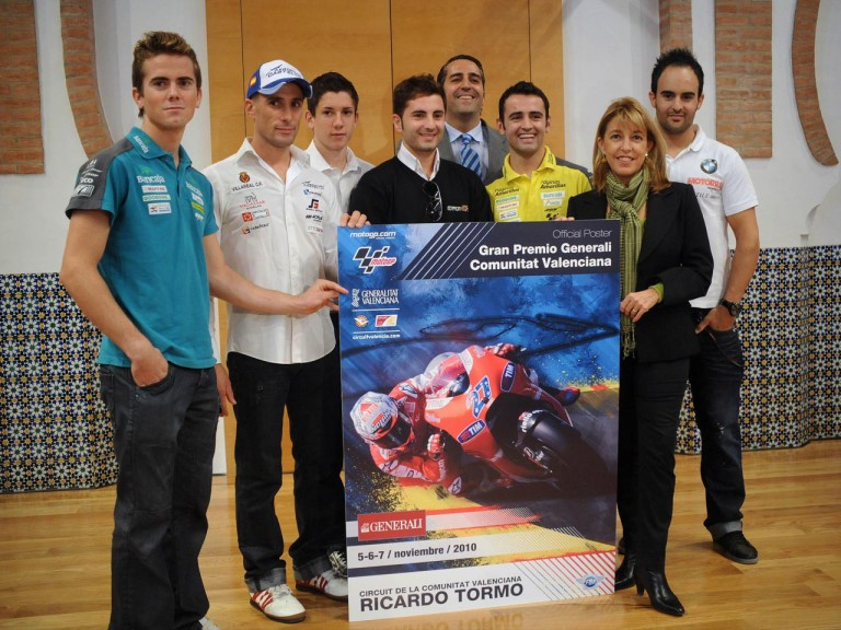 Official poster presentation of the Valencia GP 2010