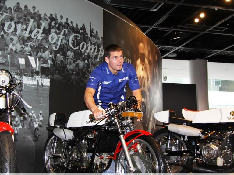 Cal Crutchlow on his visit tour at Yamaha factory