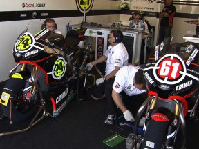 Gresini Racing Moto2 garage