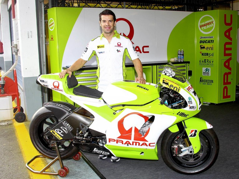 Carlos Checa with Pramac Racing at Estoril