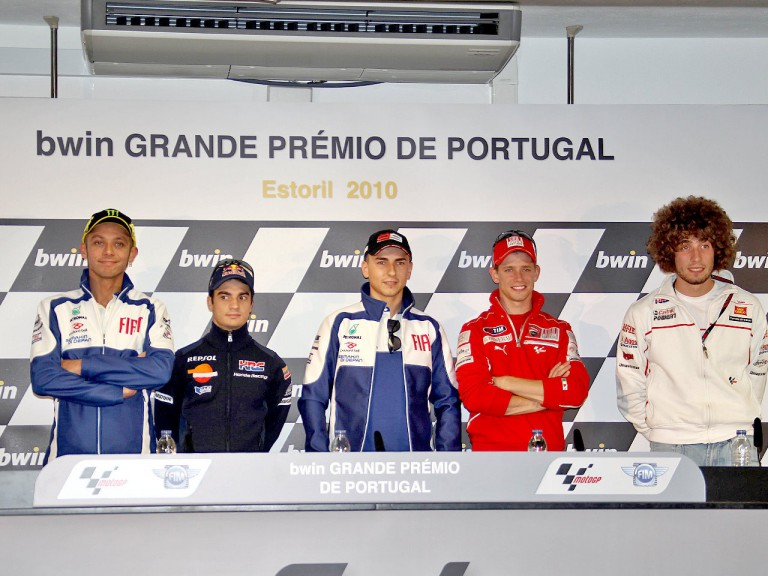 MotoGP riders at the bwin Grande Prémio de Portugal