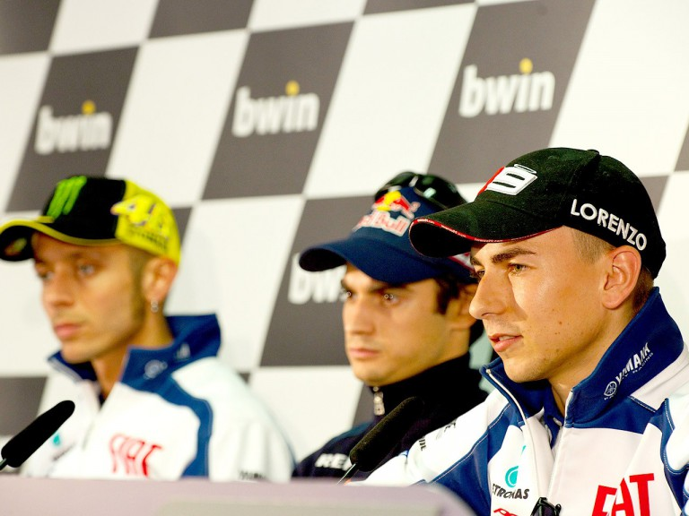 Lorenzo, Pedrosa and Rossi at the bwin Grande Prémio de Portugal press conference