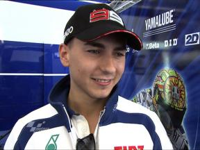 Lorenzo pleased with top time