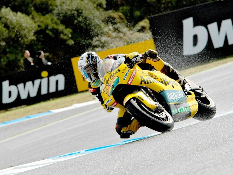 Héctor Barberá in action at Estoril