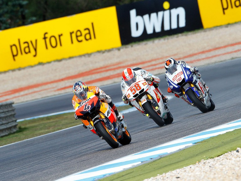 MotoGP group in action at Estoril