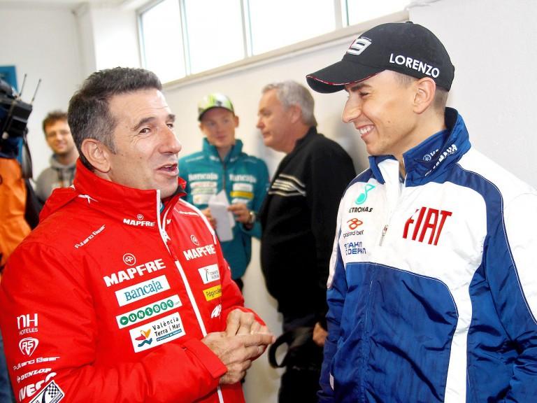 Jorge Martínez Aspar and Jorge Lorenzo