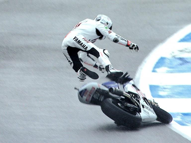 Lorenzo crashes during FP3 at Estoril