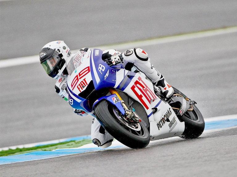 Jorge Lorenzo in action at Estoril