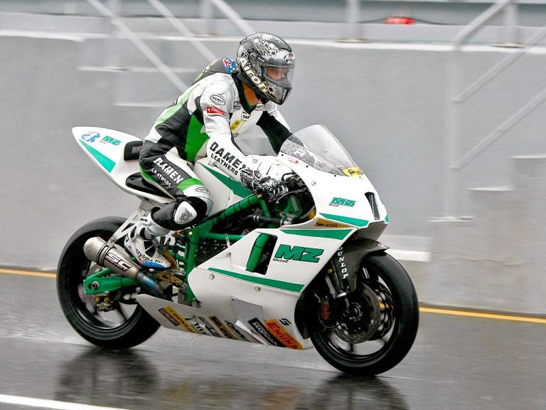 Anthony West in action at Estoril