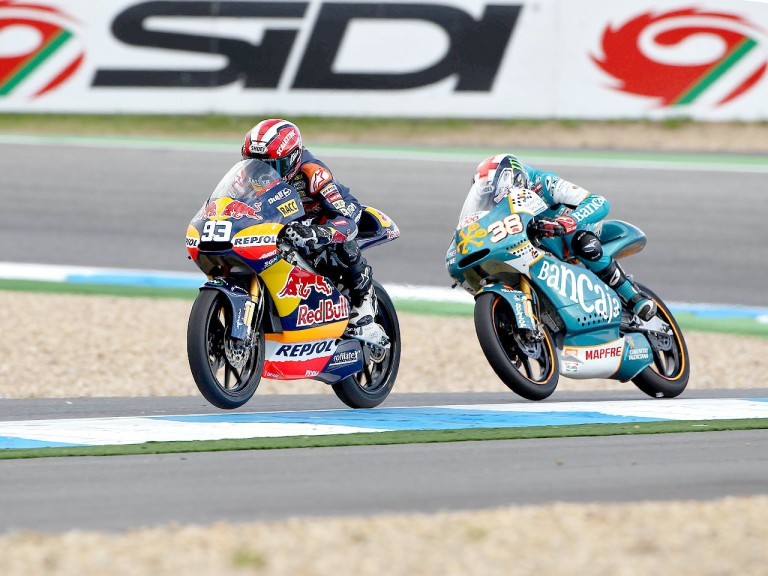 Marquez riding ahead of Smith at Estoril