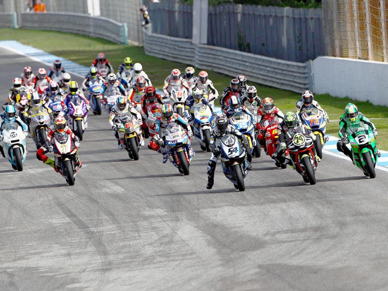 Moto2 action at Estoril