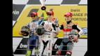 Rossi, Lorenzo and Dovizioso on the podium at Estoril