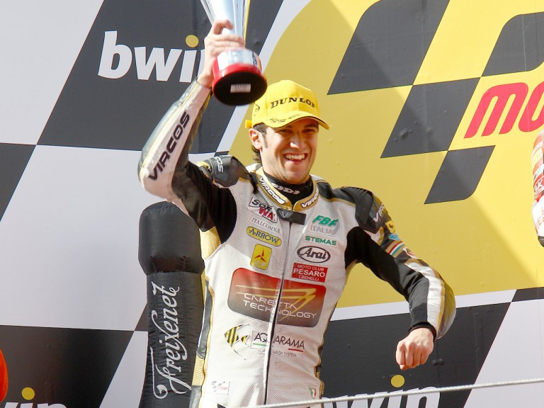 Alex Baldolini on the podium at Estoril