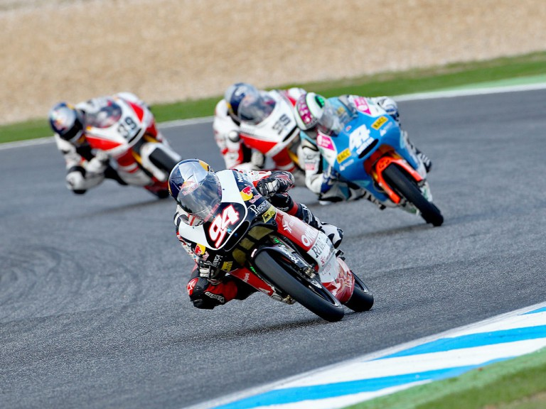 Jonas Folger in action at Estoril