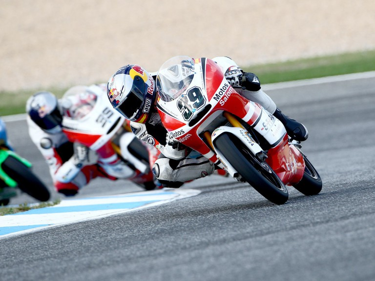 Luis Salom in action at Estoril