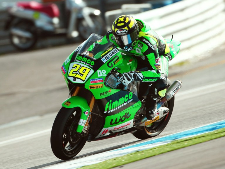 Andrea Iannone in action at Estoril