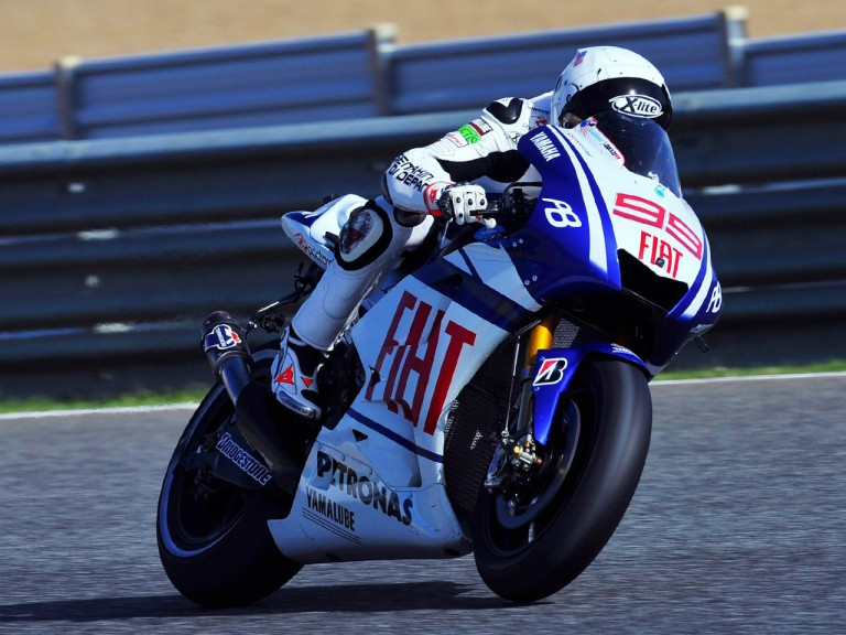 World Champion Jorge Lorenzo in action at Estoril
