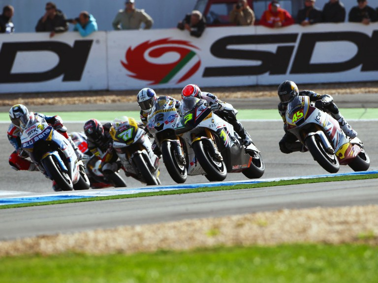 Moto2 group in action at Estoril