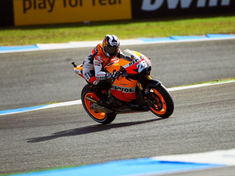 Dani Pedrosa in action at Estoril