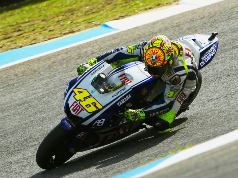 Valentino Rossi in action at Estoril