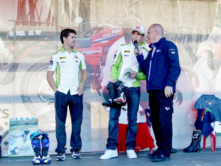 Pramac riders Checa and Espargaró supporting Day of Champions in Valencia