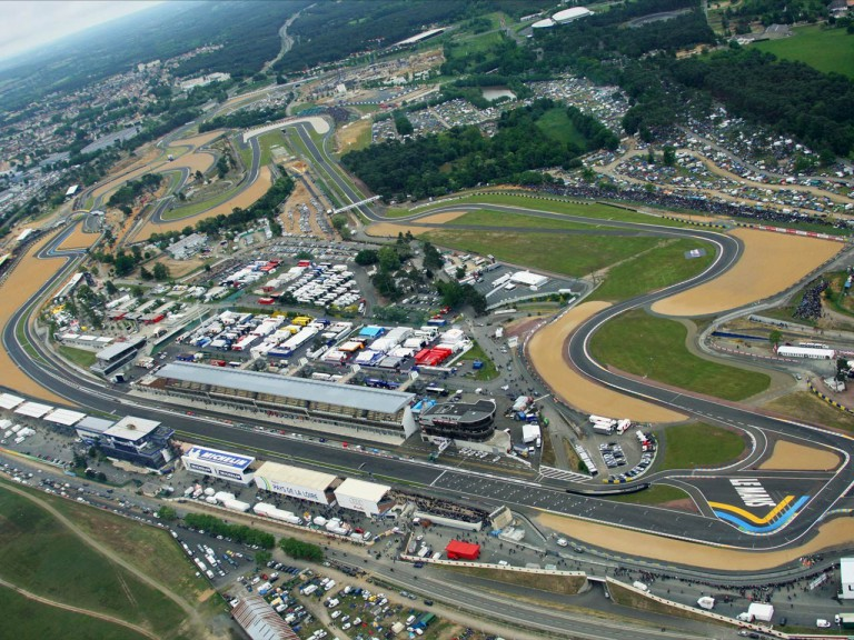 Aerial view of Lemans Circuit