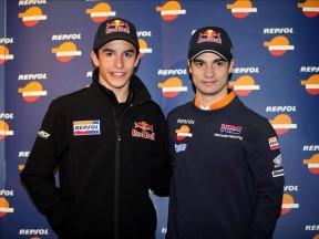 Repsol riders Marc Márquez and Dani Pedrosa