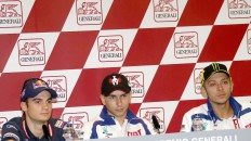 Pedrosa, Lorenzo and Rossi at the Gran Premi generali de la Comunitat Valenciana