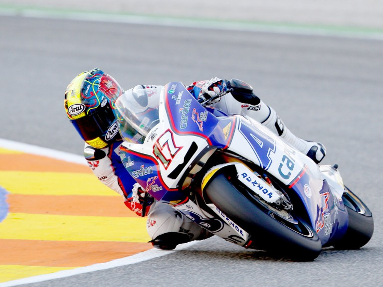 Karel Abraham in action in Valencia