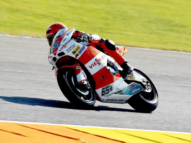 Stefan Bradl in action in Valencia