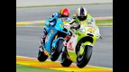 Espargaró riding ahead of Bautista in Valencia