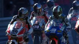 The Red Bull Ajo Motorsport rider took his 12th pole position of the season for the final race of the campaign, with title rival Nico Terol, Brit Bradley Smith and team-mate Sandro Cortese following him onto the front row.