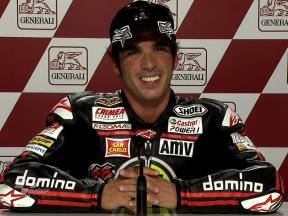 Valencia 2010 - Moto2 - QP - Interview - Toni Elias