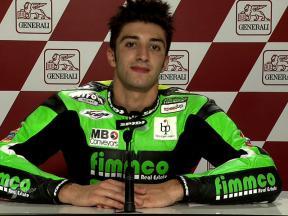Valencia 2010 - Moto2 - QP - Interview - Andrea Iannone