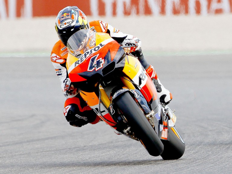 Andrea Dovizioso in action in Valencia