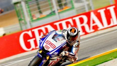 Jorge Lorenzo in action in valencia