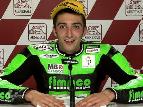Valencia 2010 - Moto2 - Race - Interview - Andrea Iannone