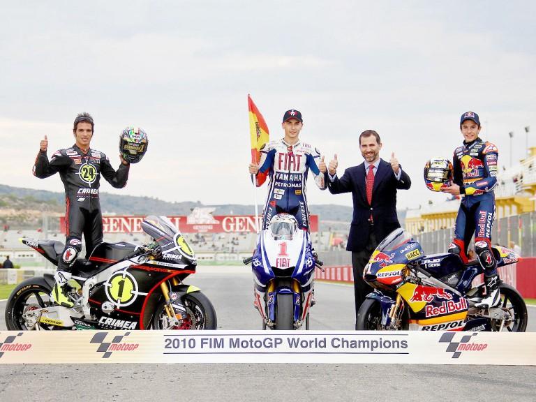 2010 World MotoGP, Moto2 and 125cc Champions and HRH Felipe de Borbón