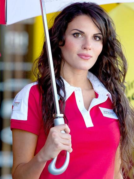 Paddock Girl at the Gran Premio Generali de la Comunitat Valenciana