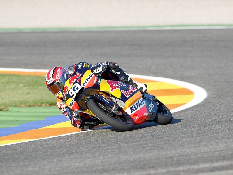 Marc Marquez in action in Valencia