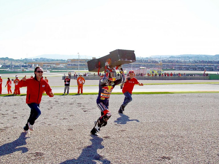 Marc Marquez celebrates 125cc World Championship