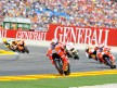 Casey Stoner riding ahead of MotoGP group in Valencia
