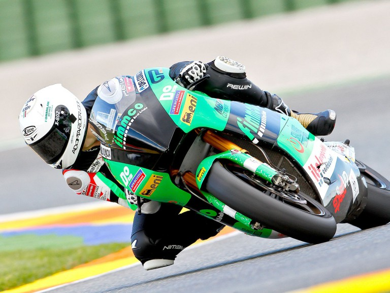 Andrea Boscoscuro in action in Valencia test