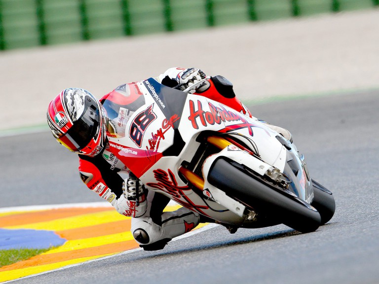 Yannick Guerra in action in Valencia test