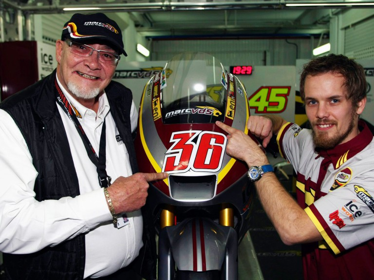 President of Marc VDS Racing, Marc van der Straten, and Mika Kallio