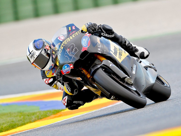 Thomas Luthi in action in Valencia test