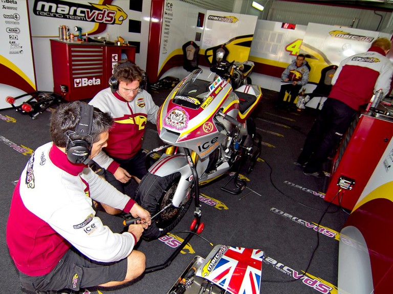 Marc VDS Racing Team garage