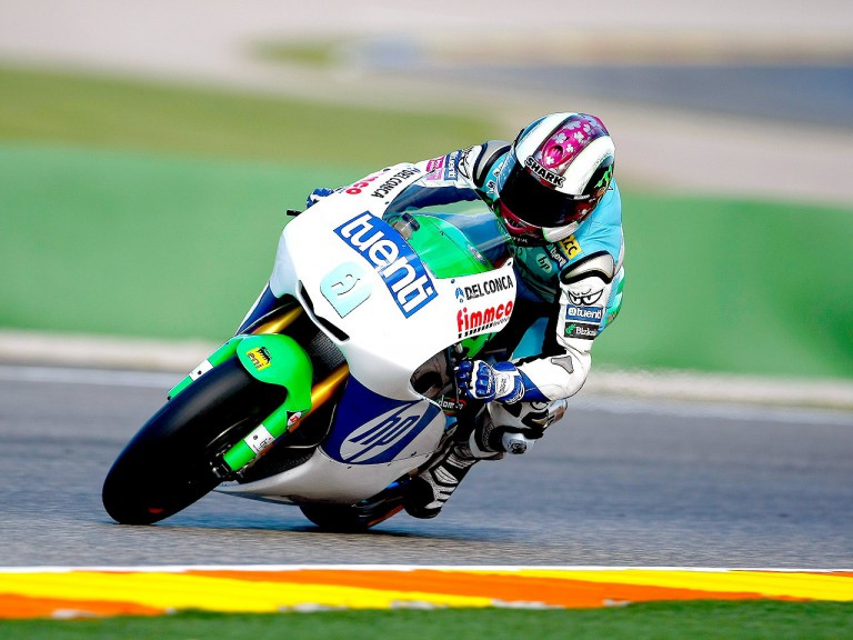 Pol Espargaró in action in Valencia test